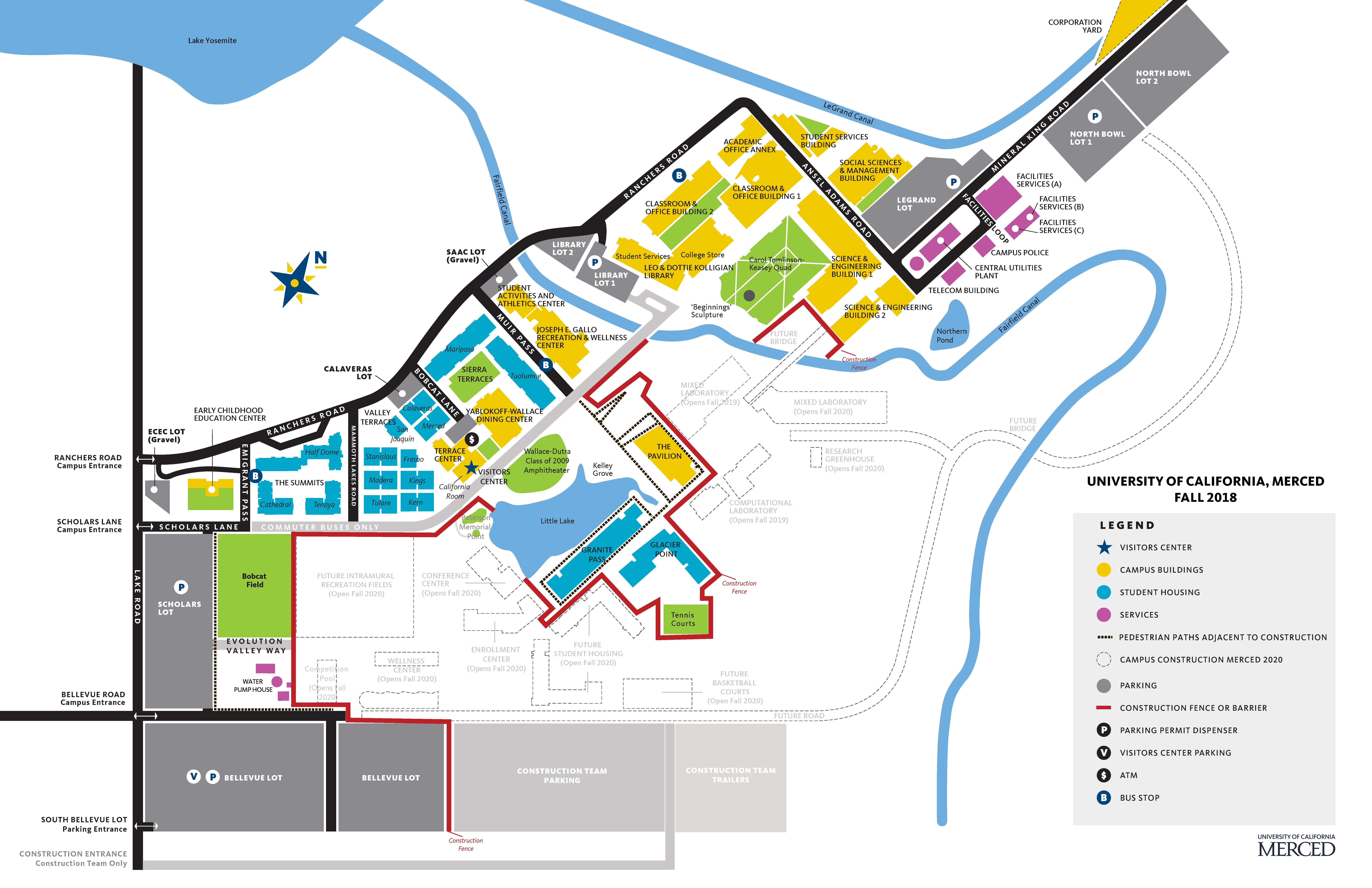 Uc Merced Map Map of Housing | Housing & Residence Education