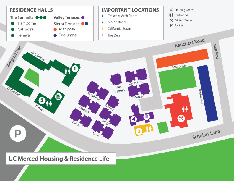 Map Of Housing Housing Amp Residence Life